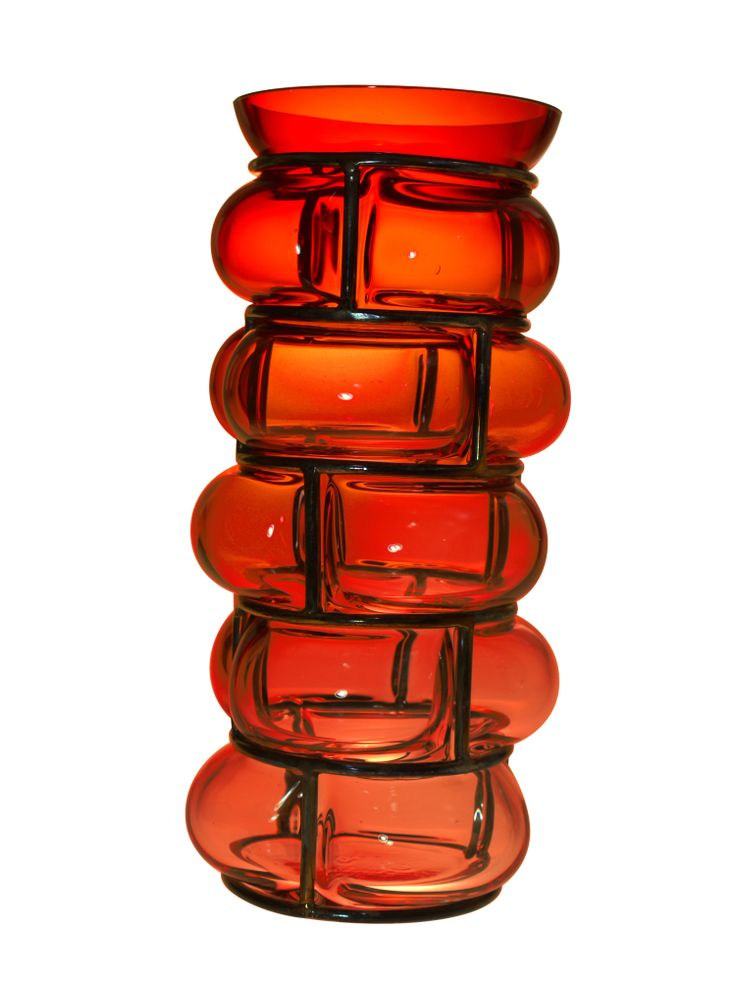 vase verre et métal chez maniglier