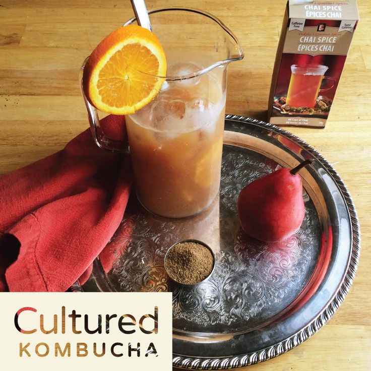 Chai Spritzer Mocktail 7 pears, juiced 1/2 Tbsp Daksha's Gourmet Spice Chai Spice Mix (blend this into the pear mixture) Lime Kombucha  - We recommend a Litre or until you have the achieved flavor you are after.  Garnish with lemon slice