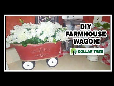 DIY FARMHOUSE FLOWER WAGON/DOLLAR TREE – YouTube
