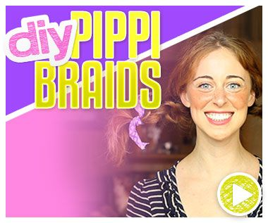 Jamie has shared some DIY Halloween hair accessories before – such as a cat ear headband, a tiara and a yarn wig – but now she's showing a hair tutorial with costume potential. In this episode of Do It, Gurl Jamie is showing how to style Pippi Longstocking inspired braids. If you're not familiar with … Read More