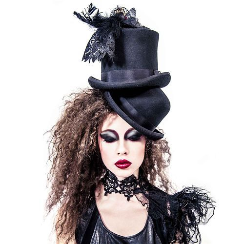 Caged Rose fascinator haarclip accessoire met vogelkooi, rozen en kant zwart - Gothic Victoriaans - One size - Red Queen's Black Legion
