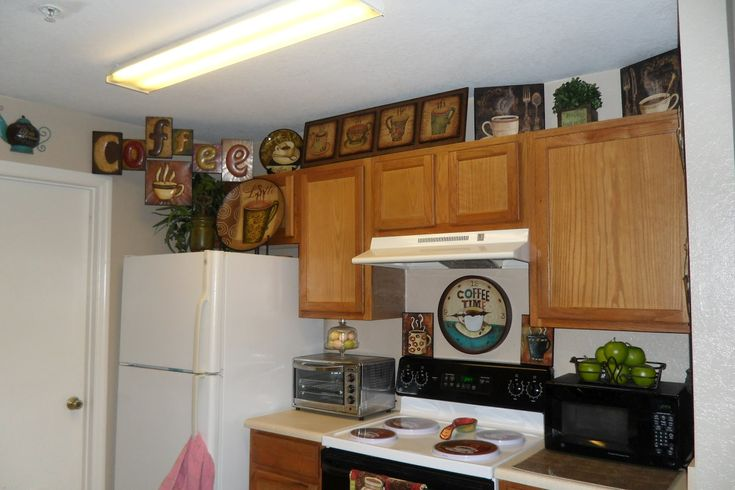 Coffee kitchen decor coffee themed kitchen pinterest for Cafe themed kitchen ideas