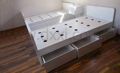 Cama con cajones - MDF laqueado - Fábrica | DXXI