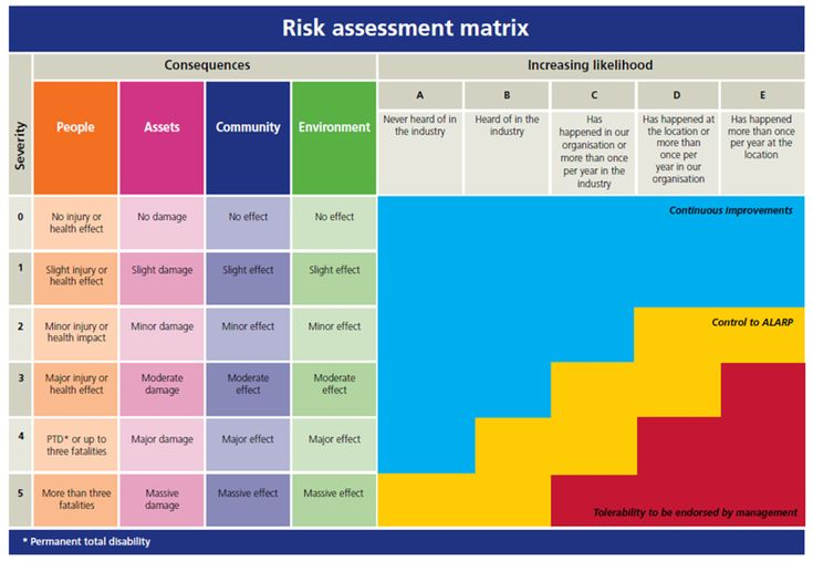 image result for risk assessment matrix  with images