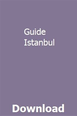 Guide Istanbul download pdf
