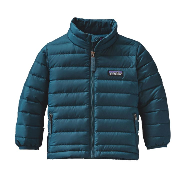 The easy-to-layer, 600-fill-power Patagonia Baby Down Sweater Jacket wraps them in soft warmth yet blocks wind and resists water when conditions get dicey.