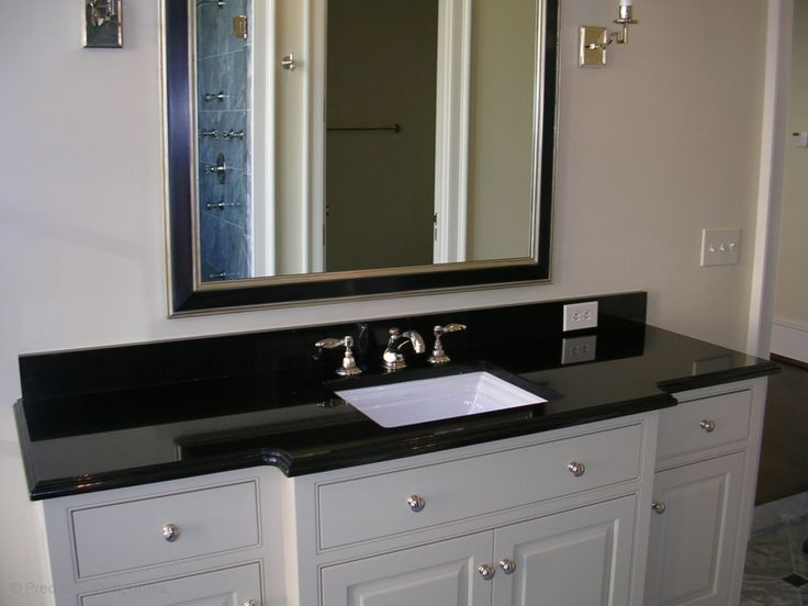 Granite Bathroom Vanity In Absolute Black With Polished Finish And Cove Dupont Edge Http