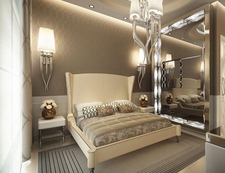 Full length lighted mirror dressing room home for Full bedroom interior design