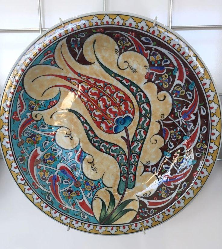 """TURKISH CERAMIC PLATE, 30 cm(11.8""""), TULIP"""