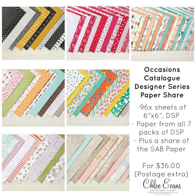 The Closet Crafters Paper Share   2017 Occasions Catalogue