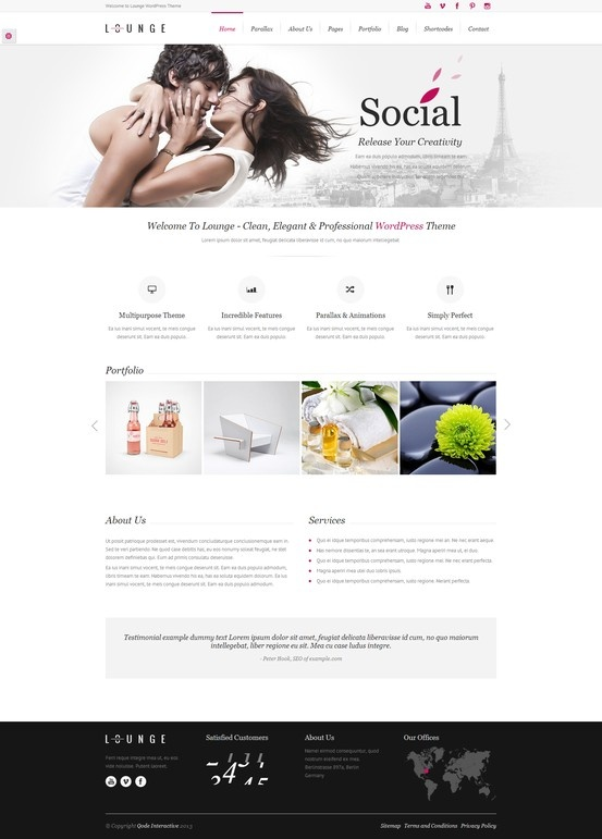 Lounge - Clean Elegant WordPress Theme - Business Corporate #wordpress #theme #website #template #responsive #design #webdesign #flat #flatdesign #clean #elegant