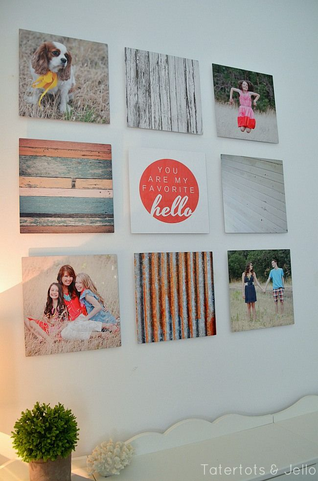 Cool combination of details and family photos  metal gallery wall using shutterfly at tatertots and jello