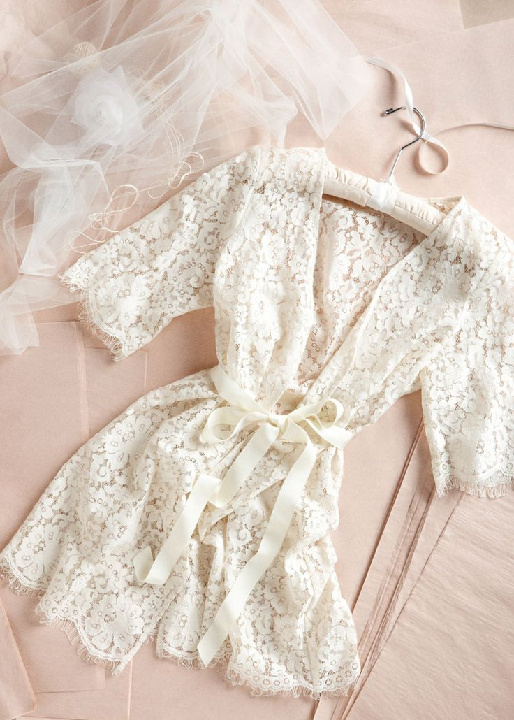 Get ready for your big day in style with this lace robe that can be used again…