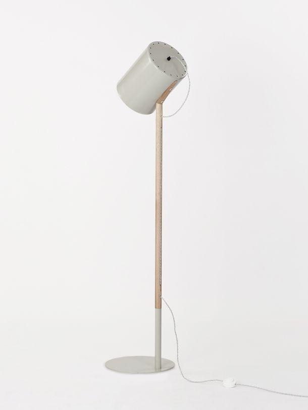 WORKROOM SMOKE GREY LEAN LAMP