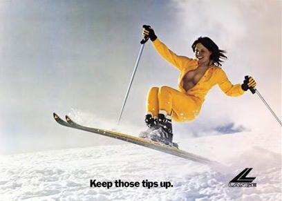 Keep those ski tips up Miss Lange
