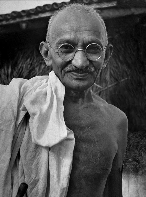 Courage and dedication. Mahatma Gandhi