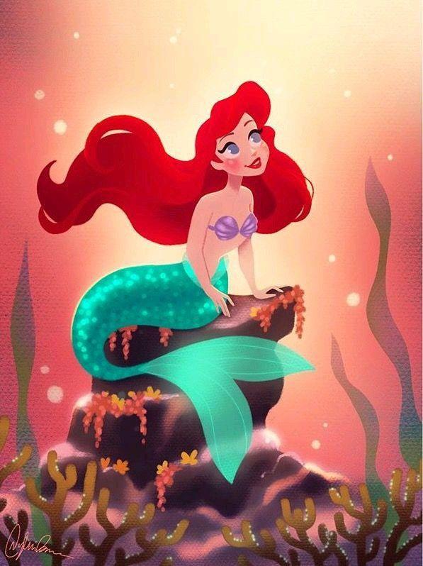 A Pequena Sereia Ariel E Linda 0 Disney Fofa Quadrinhos De