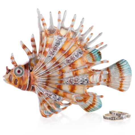 Jeweled Lion Fish Trinket Box From Z Gallerie 44 95