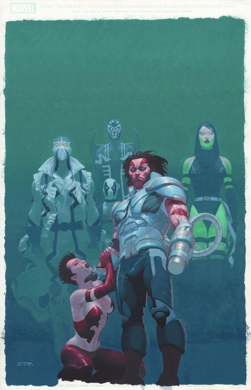 Uncanny X-Force 13 Cover Esad Ribic AoA Weapon X Wolverine as Apocalypse Comic Art