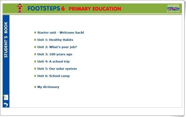 Anaya English Footsteps de 6º Nivel de Educación Primaria. Actividades interactivas complementarias a las unidades didácticas del libro del alumno.