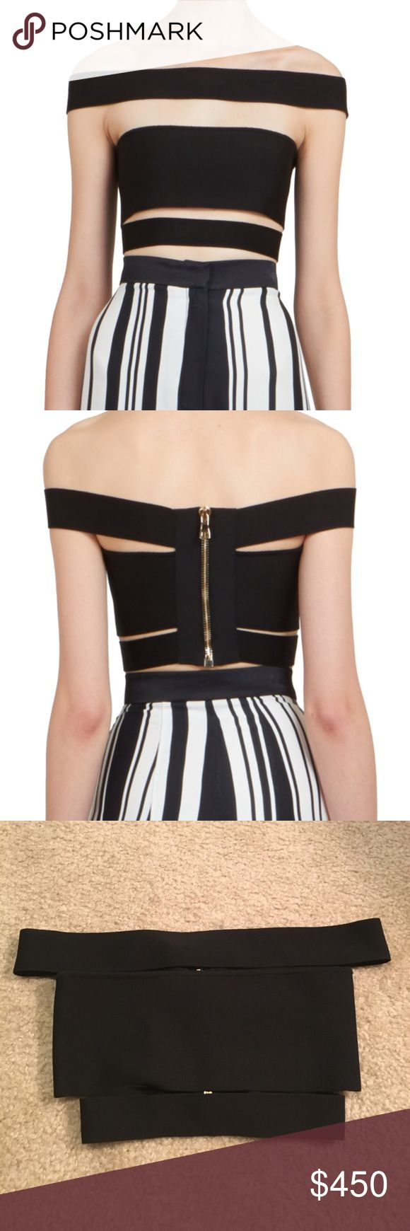 BALMAIN strappy bandage top in black! Authentic BALMAIN black bandage crop top. Size 36 fits like XS. Made in France. New with tags for $770 from Bergdorf Goodman. Willing to negotiate! Balmain Tops Crop Tops