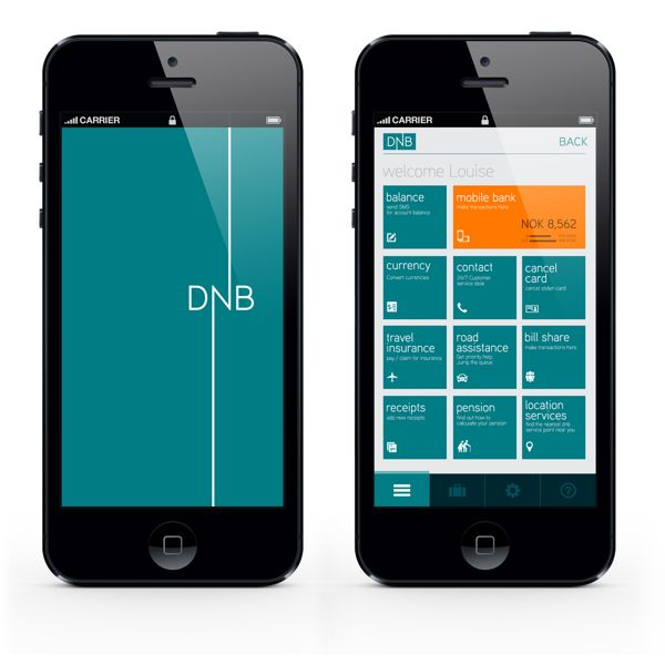 DNB.no Mobile App Re-design on Behance