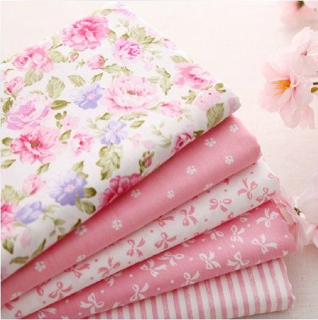 5 pcs 40cm*50cm Pink 100% Cotton Fabric For Sewing Fat Quarter Quilting Patchwork Tissue Tilda Doll Cloth Kids Bedding Textile - http://www.aliexpress.com/item/5-pcs-40cm-50cm-Pink-100-Cotton-Fabric-For-Sewing-Fat-Quarter-Quilting-Patchwork-Tissue-Tilda-Doll-Cloth-Kids-Bedding-Textile/1793241410.html