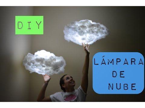 DIY   Cloud lamp / Lámpara de nube - YouTube