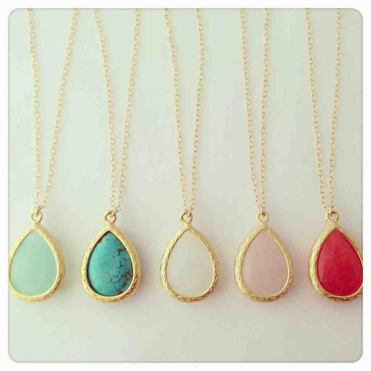 Delicate stone necklaces.