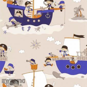 Ahoi! Die Piraten stechen in See und entdecken spannende Tiere - Tapete auf Dieter 4 Kid`z von P+S International