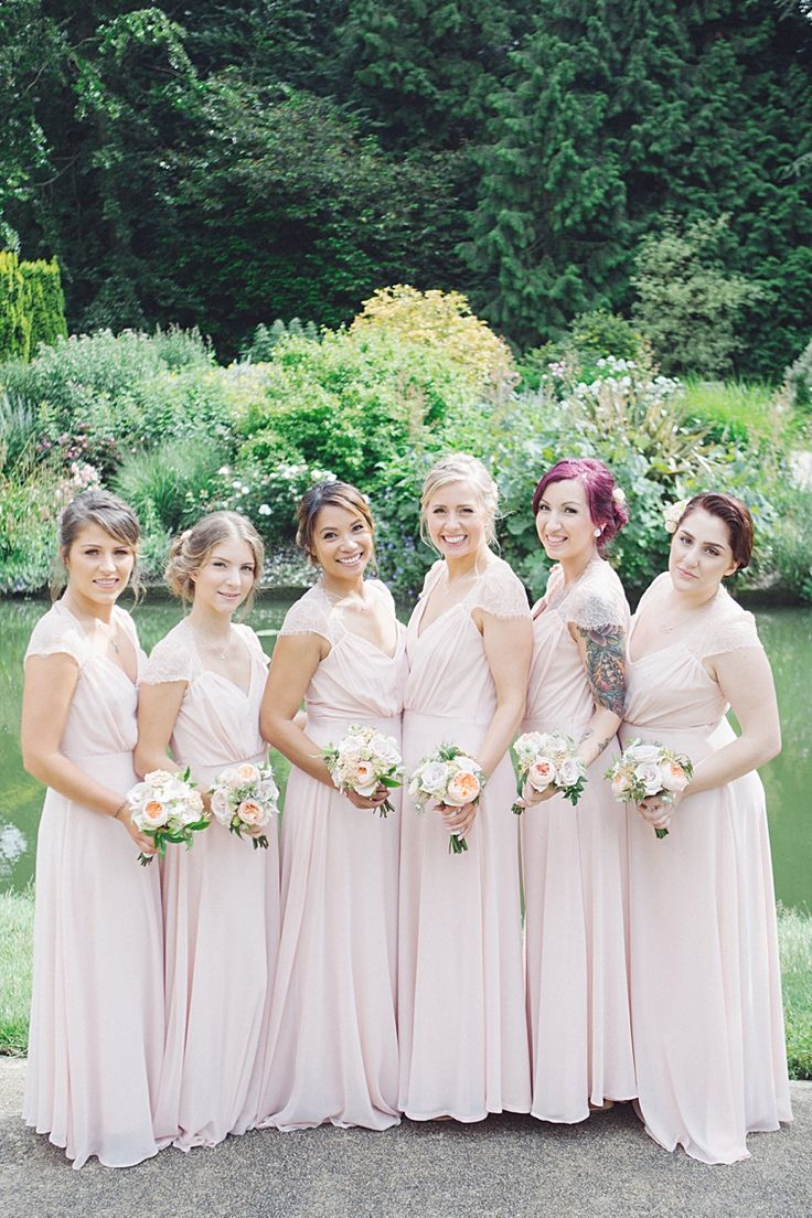 68 best four weddings a fiasco images on pinterest marriage long pink bridesmaid dresses natural peach garden wedding httpjuliaandyou ombrellifo Image collections