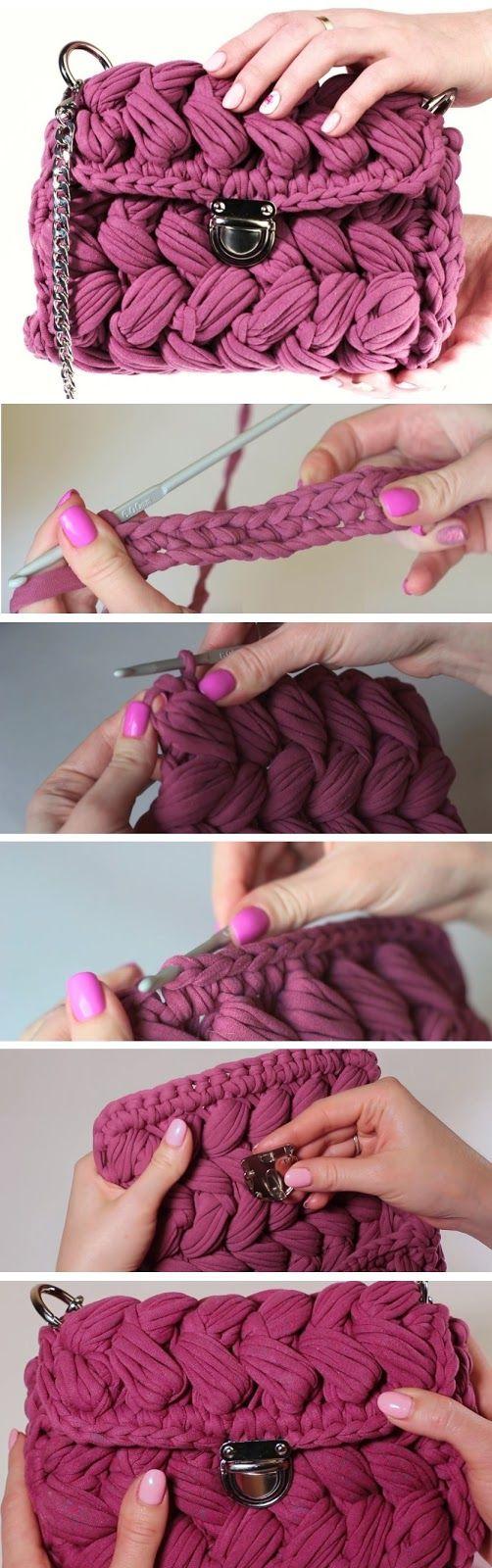 Bolsa de crochê - Ver e Fazer