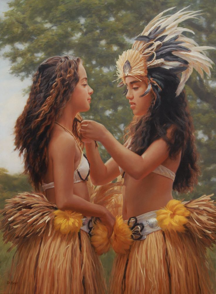 These two hula girls are getting ready for the Polynesian show. This beautiful…