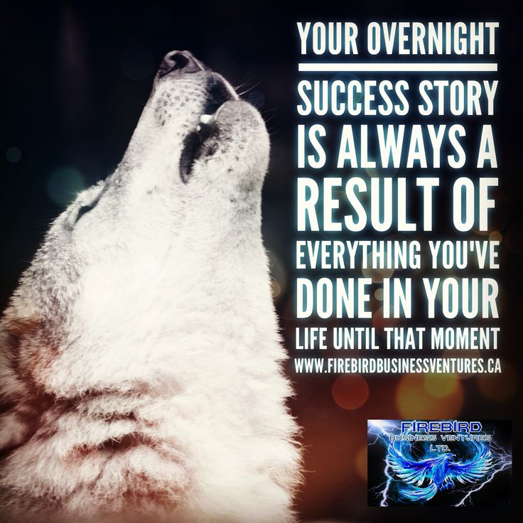 Your overnight success story is always a result of everything you've done in your life until that moment  Website: www.firebirdbusinessventures.ca  Firebird Business Ventures Ltd a division of Firebird Business Consulting Ltd.  #Incubator #Accelerator #StartUp #Success #perseverance #Saskatoon #yxe #BusinessPartner #FirebirdBusinessVentures #BusinessManagement #Sales #Motivation #Inspiration #Partnerships