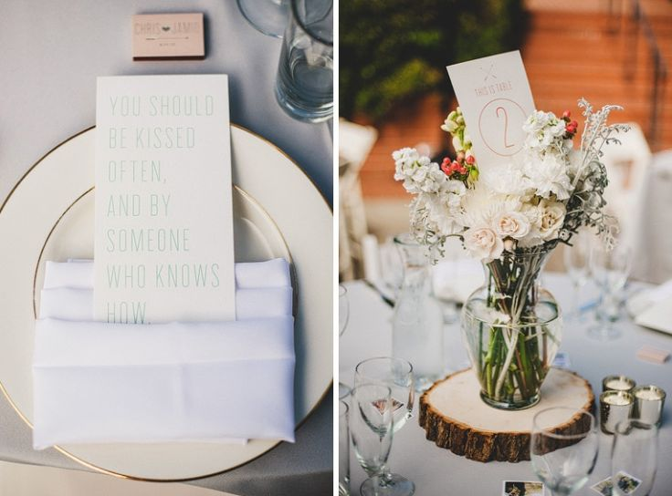 beautiful table settings and centrepiece. photography by Manchik Photography