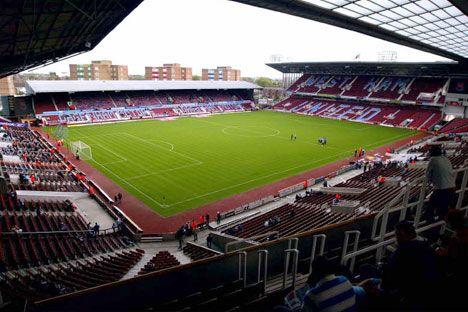 Boleyn Ground, Upton Park - The West Ham United home stadium.  This one's for my man!