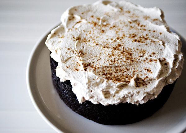Mexican Chocolate Cake with Mascarpone Frosting recipe - The frosting is rich and not overly sweet.  It is the perfect compliment to the complex flavors in the cake. #cake #chocolate #foodgift