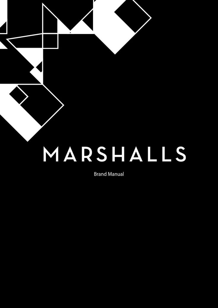 Marshall's Brand Manual  Identity manual for Marshalls' stores