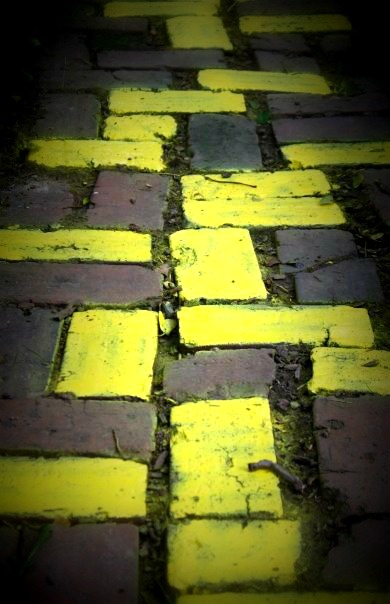 The start of the Yellow Brick road...Yellow Brick Road, Tile Bricks, Yellow Bricks Roads, Tiles Bricks Mosa