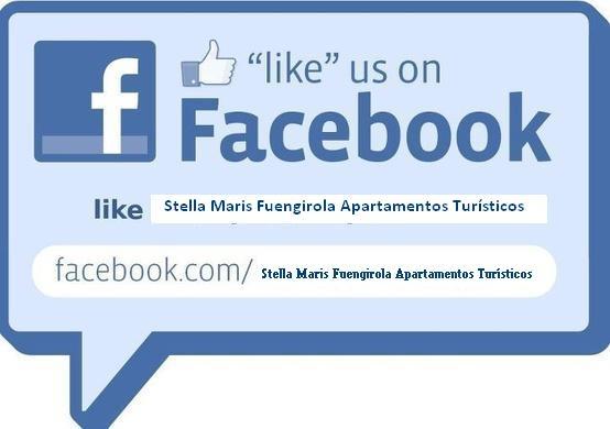 """Like us"" on Facebook.  Like Stella Maris Fuengirola Apartamentos Turisticos."