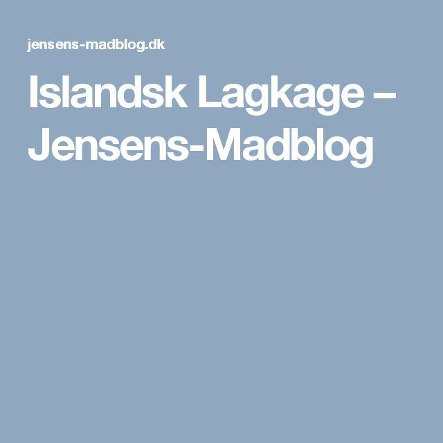 Islandsk Lagkage – Jensens-Madblog