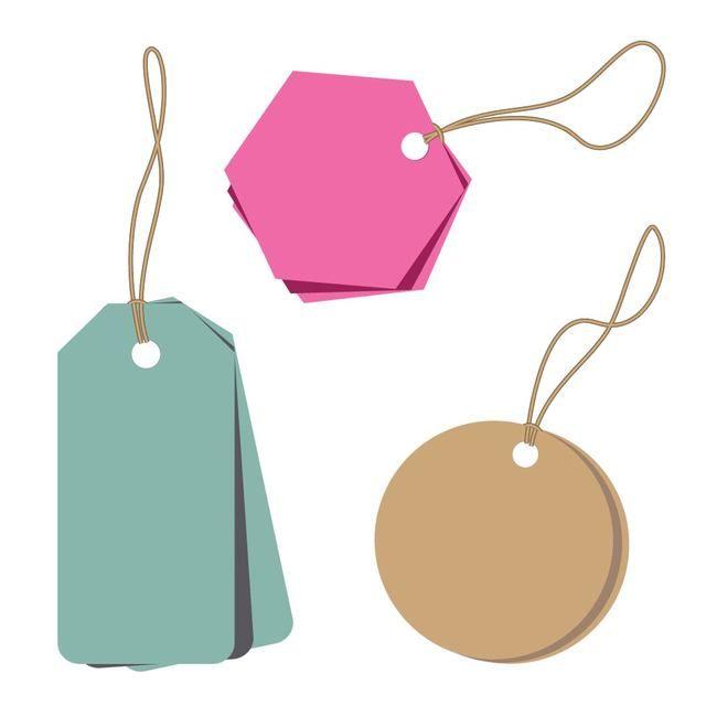 Minimalist Abstract Price Tags Hang Tag Design Design Mockup Free Price Tag