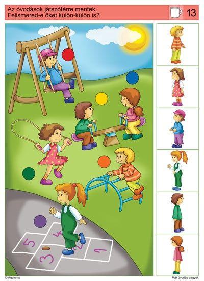 visuele discriminatie voor kleuters / preschool visual discrimination #dopasowanka #AnalizaObrazu