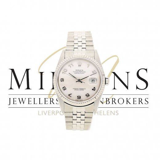 Second Hand Rolex Datejust 16234 - Mother of Pearl Arabic Dial
