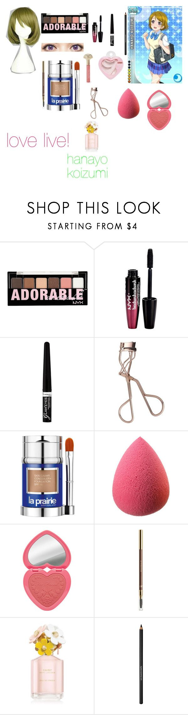 """love live ! hanayo koizumi make up tutorial"" by princesspanty ❤ liked on Polyvore featuring beauty, Charlotte Russe, Rimmel, Charlotte Tilbury, Etude House, La Prairie, H&M and Marc Jacobs"