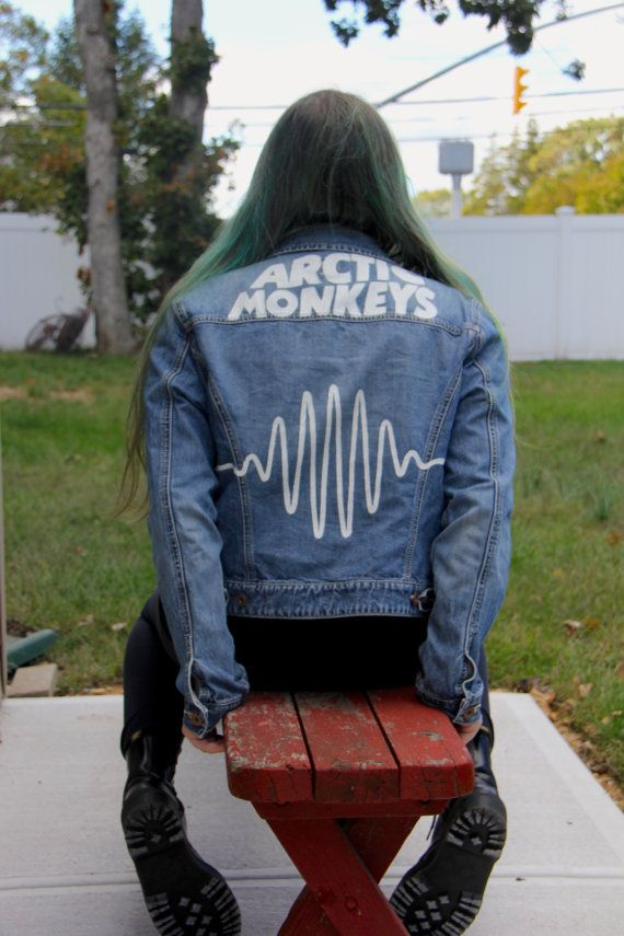 Hand painted Arctic Monkeys jacket based on their album AM and their music video…