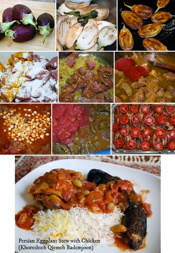 Persian Eggplant Stew ~ highlights baby eggplants and yellow split peas. It can eas…  Soups