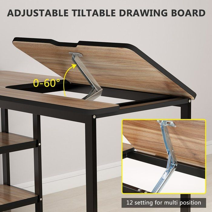 Maciejewski Multi Functional Drafting Table Furniture Drafting Table Decor