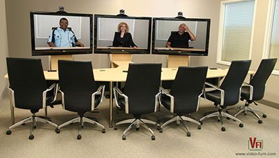 VC-TABLE closed configuration brings a clean high-tech look to today's conference rooms. VC-TABLE is offered stand-alone or as our configured room packages. Please click the image for more details and available packages.