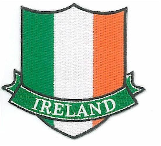 IRELAND Tricolour Flag Crest Banner - Embroidered Patch / Badge - Irish | eBay